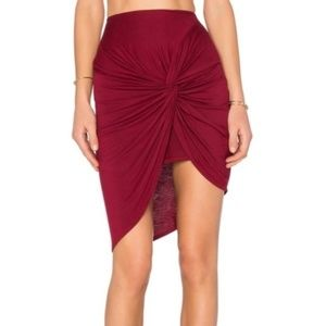 Lovers + Friends Red Knot Hi Lo Skirt